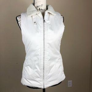Banana Republic Ivory Full Zip Puffer Vest S